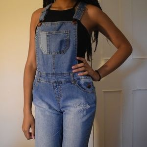 Cherokee Jeans - Cropped Denim Overalls